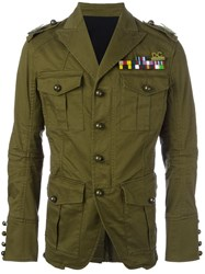 Dsquared2 'Golden Arrow' Military Jacket Green