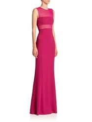 Narciso Rodriguez Sleeveless Sheer Inset Gown Pink