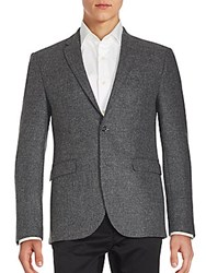 Sand Solid Textured Sportcoat Grey