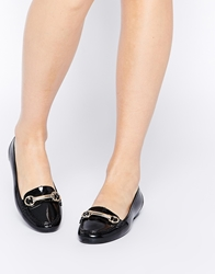London Rebel Jello Jelly Bar Loafers Black