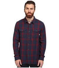Vans Wayland Long Sleeve Flannel Dress Blues Red Dahlia Men's Clothing
