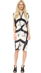 Zero Maria Cornejo Canvas Plaid Issa Dress Canvas Black