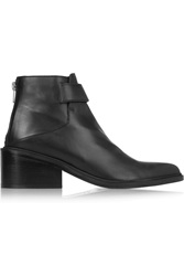 Helmut Lang Schist Leather Ankle Boots Black