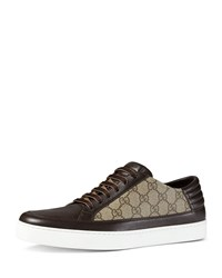 Gucci Gg Supreme Leather Low Top Sneaker Brown