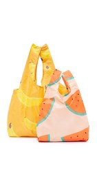 Baggu Banana Bag Set Banana Watermelon