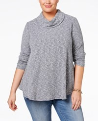 Styleandco. Style Co. Plus Cowl Neck Knit Top Only At Macy's Industrial Blue