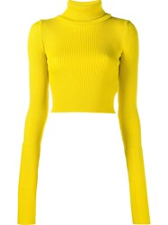 Jacquemus Ribbed Turtleneck Jumper Yellow And Orange