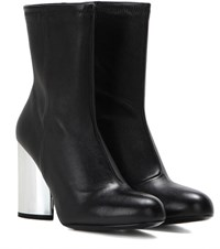 Opening Ceremony Zloty Leather Ankle Boots Black