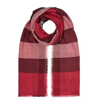 Burberry Shoes And Accessories Lightweight Check Wool And Silk Scarf Female Fuchsia