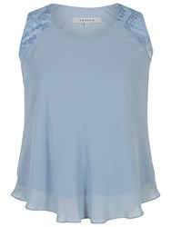Chesca Chiffon Camisole Top Powder Blue