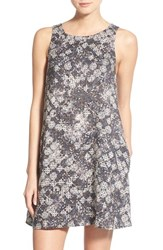 Women's Hinge Print A Line Dress Navy Sapphire Covered Tapestry