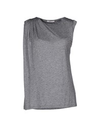 Gold Case Topwear T Shirts Women Grey