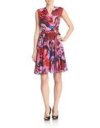 Taylor Abstract Fit And Flare Dress Blossom Multi