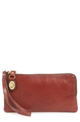 Hobo Women's 'Mila' Leather Wristlet Brown Mahogany