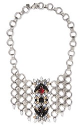 Dannijo Alessio Oxidized Silver Plated Swarovski Crystal Necklace