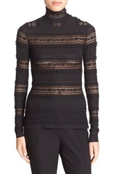 Cinq A Sept Women's 'Antonia' Lace Turtleneck Black Black