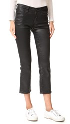 Ag Jeans The Jodi Crop Leatherette Super Black