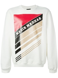Nasir Mazhar Colour Block Sweatshirt White