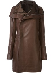 Rick Owens Biker Coat Brown