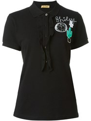 Peter Jensen 'Shirley' Frill Polo Black
