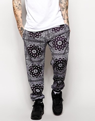 Jaded London Sweatpants In Bandana Print Black