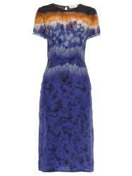 Altuzarra Glaze Tie Dye Silk Dress Blue Multi