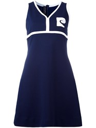Pierre Cardin Vintage Sleeveless A Line Dress Blue