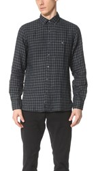 Todd Snyder Check Shirt Charcoal