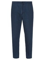 Vince Cotton And Linen Blend Cropped Chino Trousers