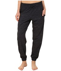 Lucy Do Everything Cuffed Pant Fossil Mountain Print Women's Casual Pants Black