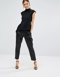 Closet London Sequin Trouser Black