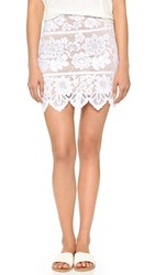 For Love And Lemons Gianna Miniskirt White
