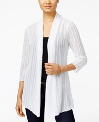 Jm Collection Open Front Textured Cardigan Only At Macy's Bright White
