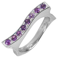 Torrini Mood Amethysts 18K White Gold Ring