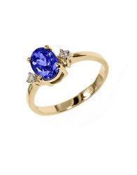 Effy Violette 14K Yellow Gold Tanzanite And Diamond Ring