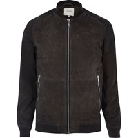 Jack And Jones River Island Mens Grey Premium Suede Jacket