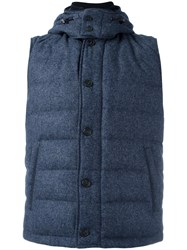 Corneliani Sleeveless Padded Jacket Blue