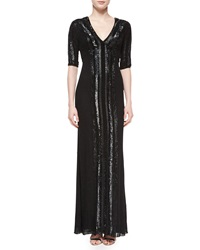 Jenny Packham Panel Beaded Swiss Dot Gown