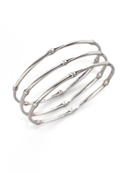 John Hardy Bamboo Sterling Silver Slim Bangle Bracelet Set No Color