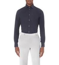 Richard James Contemporary Fit Corduroy Shirt Navy