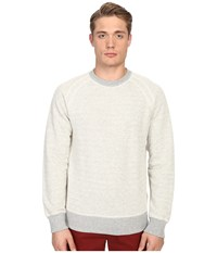 Billy Reid Aaron Long Sleeve Crew Light Grey Men's Sweatshirt Gray