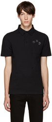 Fendi Black Appliqua Polo