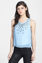 Chelsea 28 Embellished Shell Top Blue
