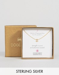 Dogeared Gold Plated Little Bits Of Happy Mini Anchor Boxed Necklace Gold