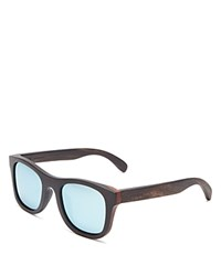 Finlay And Co. Ledbury Mirrored Wooden Wayfarer Sunglasses 50Mm Wood Silver Mirror