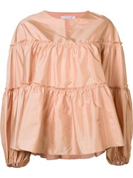 Chloe Tiered Blouse Pink Purple