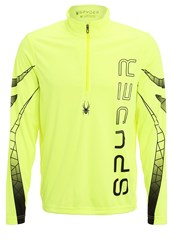 Spyder Powertrack Sports Shirt Yellow