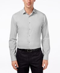 Alfani Men's Fitted Performance Solid Dress Shirt Only At Macy's Ice Grey