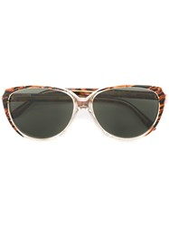 Yves Saint Laurent Vintage Cat Eye Frame Sunglasses Brown