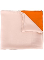 Salvatore Ferragamo Sheer Colour Drained Scarf Nude Neutrals